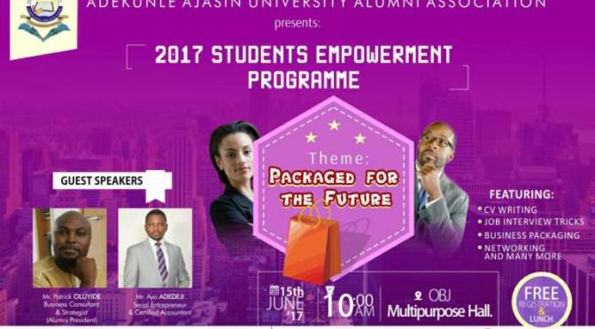 Attend AAUA Alumni Association Student Empowerment Programme (SEP) 2017